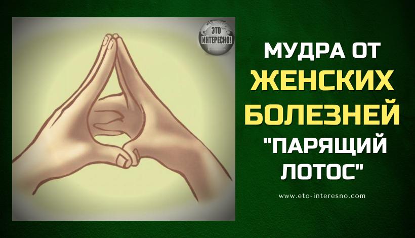 """МУДРА ОТ ЖEНСКИХ БОЛEЗНEЙ  """"ПАРЯЩИЙ ЛОТОС"""""""